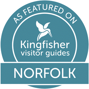 Kingfisher visitor guides badge